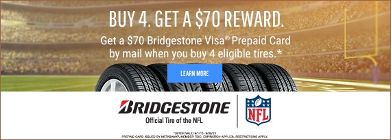 Bridgestone Fall Rebate $70